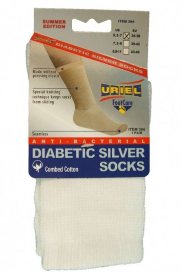 Diabetische Zomer wit sokken
