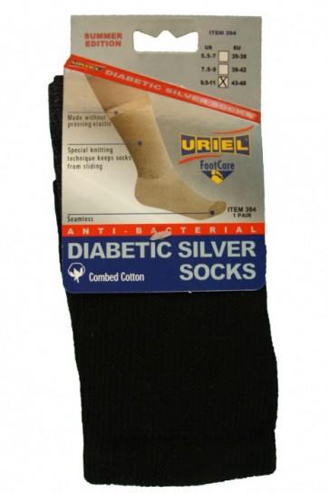 Diabetische Zomer zwart sokken