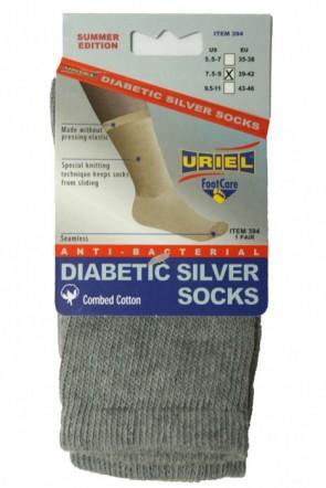 Diabetische Zomer zilver sokken