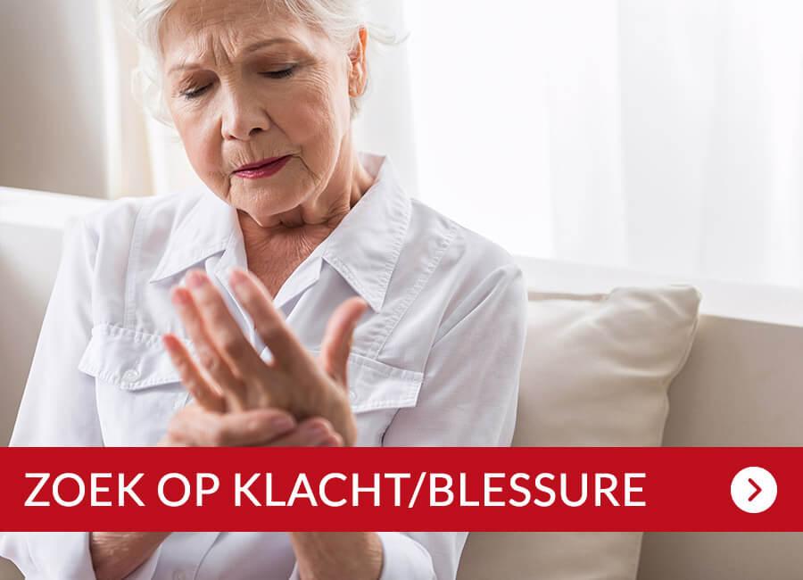 ZOEK OP KLACHT/BLESSURE